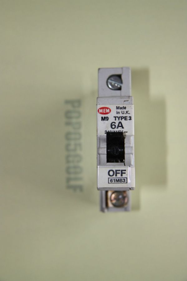 MEM Memshield 1 - 61MB3 6a Type 3 Single Pole MCB Used
